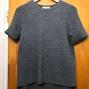 Madewell grey sweater tee EUC